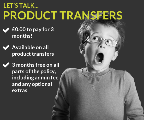 3 months free available on product transfers
